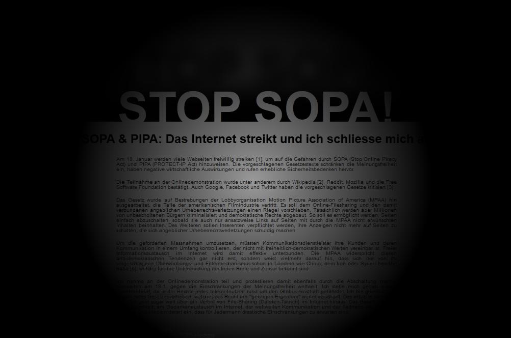 Blackout SOPA/PIPA